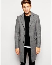 Men's Grey Herringbone Overcoats from Asos | Men's Fashion