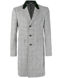 Alexander McQueen Herringbone Single Breasted Coat