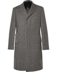 Kingsman herringbone wool overcoat medium 896791