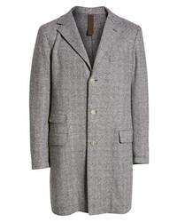 Eleventy Trim Fit Wool Blend Top Coat