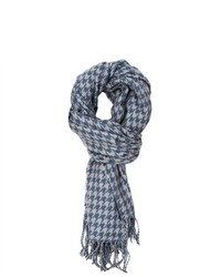 Lava Accessories Cambridge Houndstooth Wrap Scarf Light Bluegrey
