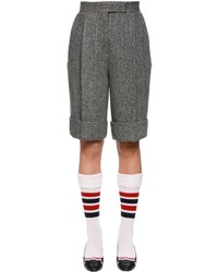 Thom Browne Wool Herringbone Tweed Bermuda Shorts