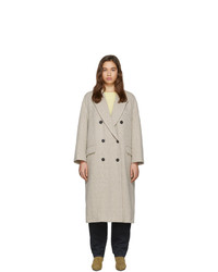 Isabel Marant Etoile Off White Wool Ojima Coat