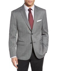 JB Britches Classic Fit Herringbone Wool Sport Coat