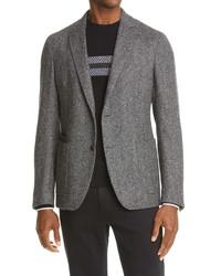 Z Zegna D8 Herringbone Wool Blend Sport Coat