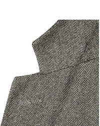 Dunhill Grey Fitzrovia Slim Fit Herringbone Tweed Blazer