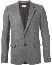 Saint Laurent Herringbone Tweed Blazer