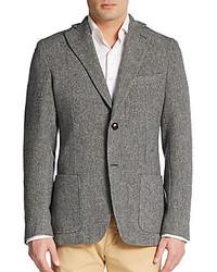 Herringbone wool sportcoat medium 151662