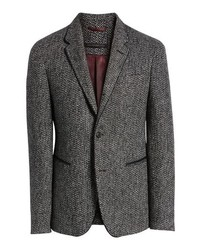 John Varvatos Star USA Piped Tweed Wool Blend Sport Coat
