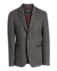 John Varvatos Star USA Piped Tweed Wool Blend Sport Coat