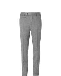 Brunello Cucinelli Grey Slim Fit Herringbone Virgin Wool And Cashmere Blend Suit Trousers