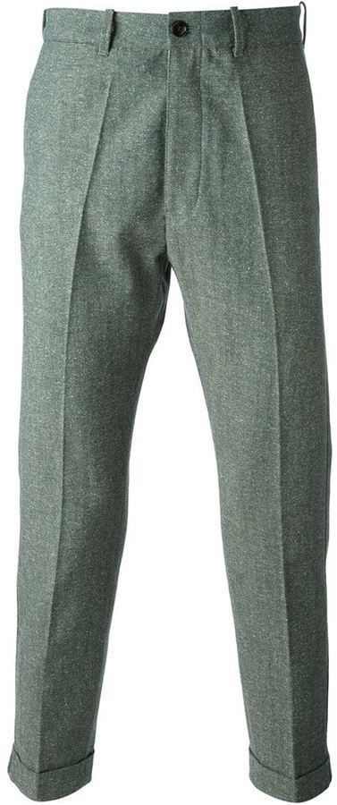 (+) People People Herringbone Slim Fit Trousers