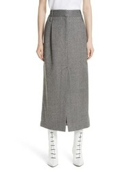 Tibi Herringbone Tweed Wool Pencil Skirt