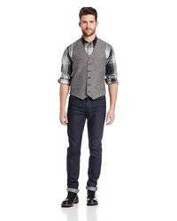 Dkny jeans herringbone vest medium 23330