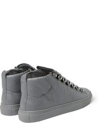 fc36bf51df0e ... Balenciaga Arena Creased Leather High Top Sneakers ...