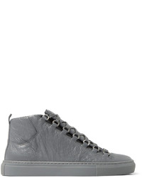 Arena creased leather high top sneakers medium 1245572