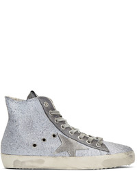 Golden goose grey glitter francy high top sneakers medium 1151526