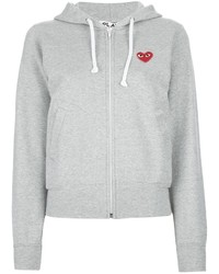 Comme des garons play embroidered heart hoodie medium 1359401