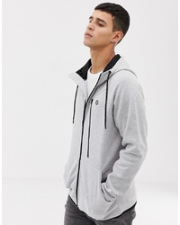 Jack & Jones Core Zip Through Hoodie With Tech Zips