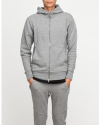 Flash Dualzip Hoodie In Grey