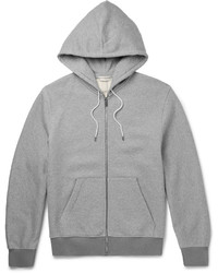 Balenciaga Fleece Back Cotton Jersey Zip Up Hoodie