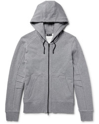 Belstaff Fleming Loopback Cotton Jersey Zip Up Hoodie
