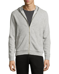 ATM Anthony Thomas Melillo French Terry Zip Up Hoodie Gray