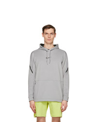 Nike Grey And Black Pro Pullover Hoodie