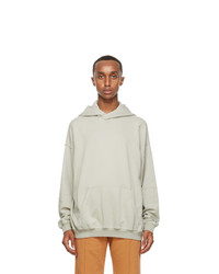 Haider Ackermann Grey Cotton Hoodie