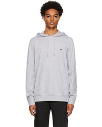 Lacoste Grey Cotton Jersey Hoodie