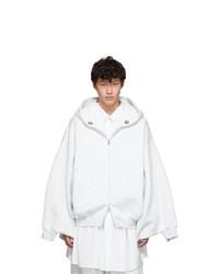 Fumito Ganryu Grey Kimono Zip Hoodie