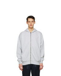 Acne Studios Grey Pink Label Zip Hoodie