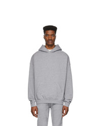 Essentials Grey Reflective Pullover Hoodie