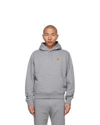 Kenzo Grey Tiger Crest Hoodie