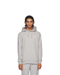 adidas Originals Grey Trefoil Essentials Hoodie