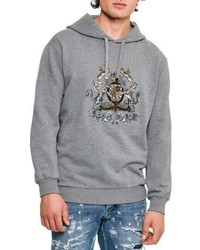 Dolce & Gabbana House Crest Mlange Hoodie Medium Gray