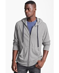 James Perse Classic Zip Hoodie Heather Grey 3