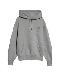 AMI Alexandre Mattiussi Logo Organic Cotton Hoodie