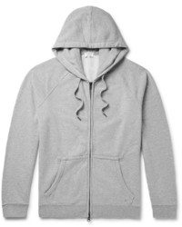 Frame Loopback Cotton Jersey Zip Up Hoodie