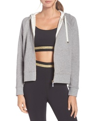 kate spade new york Mixed Media Full Zip Sweatshirt