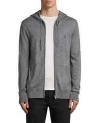 AllSaints Mode Slim Fit Merino Wool Zip Hoodie