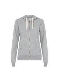 New Look Grey Quilted Zip Up Hoodie