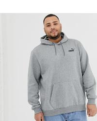 Puma Plus Essentials Hoodie With Small Logo In Grey