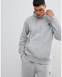 Converse Pullover Logo Hoodie In Grey 10008814 A03