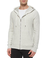 Rag and Bone Rag Bone Jaxon Full Zip Hoodie Gray