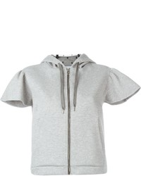 RED Valentino Cropped Zip Up Hoodie