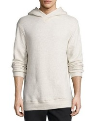 Helmut Lang Textured Pullover Hoodie Light Heather Gray