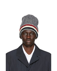 Thom Browne Grey Wool Aran Rwb Stripe Beanie