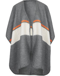 Topshop Wrap Around Cape Featuring Colour Block Stripe Pattern In A Soft Hand Feel 100% Acrylic Machine Washable