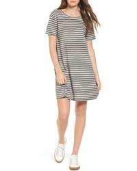 Current/Elliott Stripe Knit T Shirt Dress